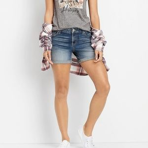 Vintage Frayed Top Faded LEI Jean Shorts